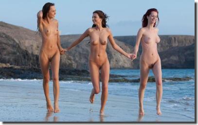 若くて可愛い女の子多めなヌーディストビーチガールズの画像を下さい ④