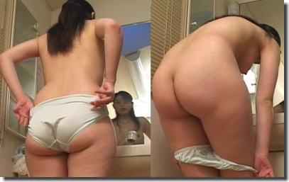 女の子がラスト一枚のパンツを脱ぐセックス前のエロ画像 ④
