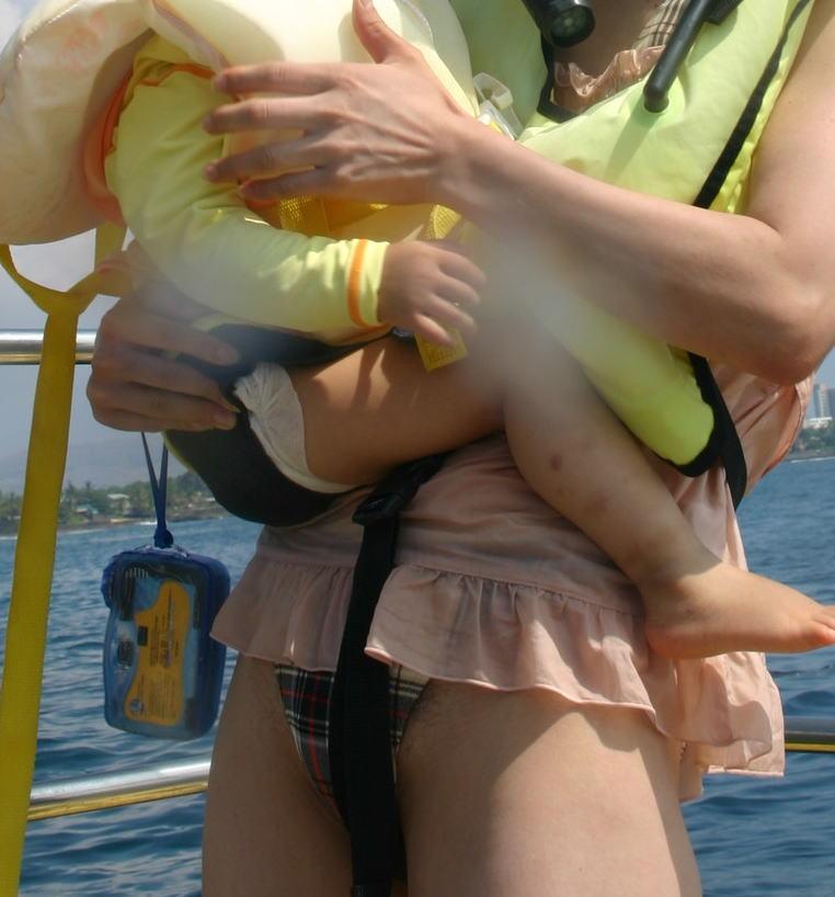 水着 ハミ毛 ハミマン まんこ ハプニング エロ画像【6】