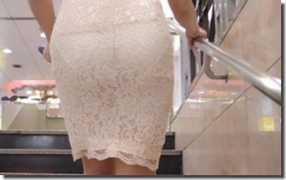 まじパンツ透け過ぎて丸分かりな透けパン女子のエロ画像 ①