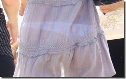まじパンツ透け過ぎて丸分かりな透けパン女子のエロ画像 ③