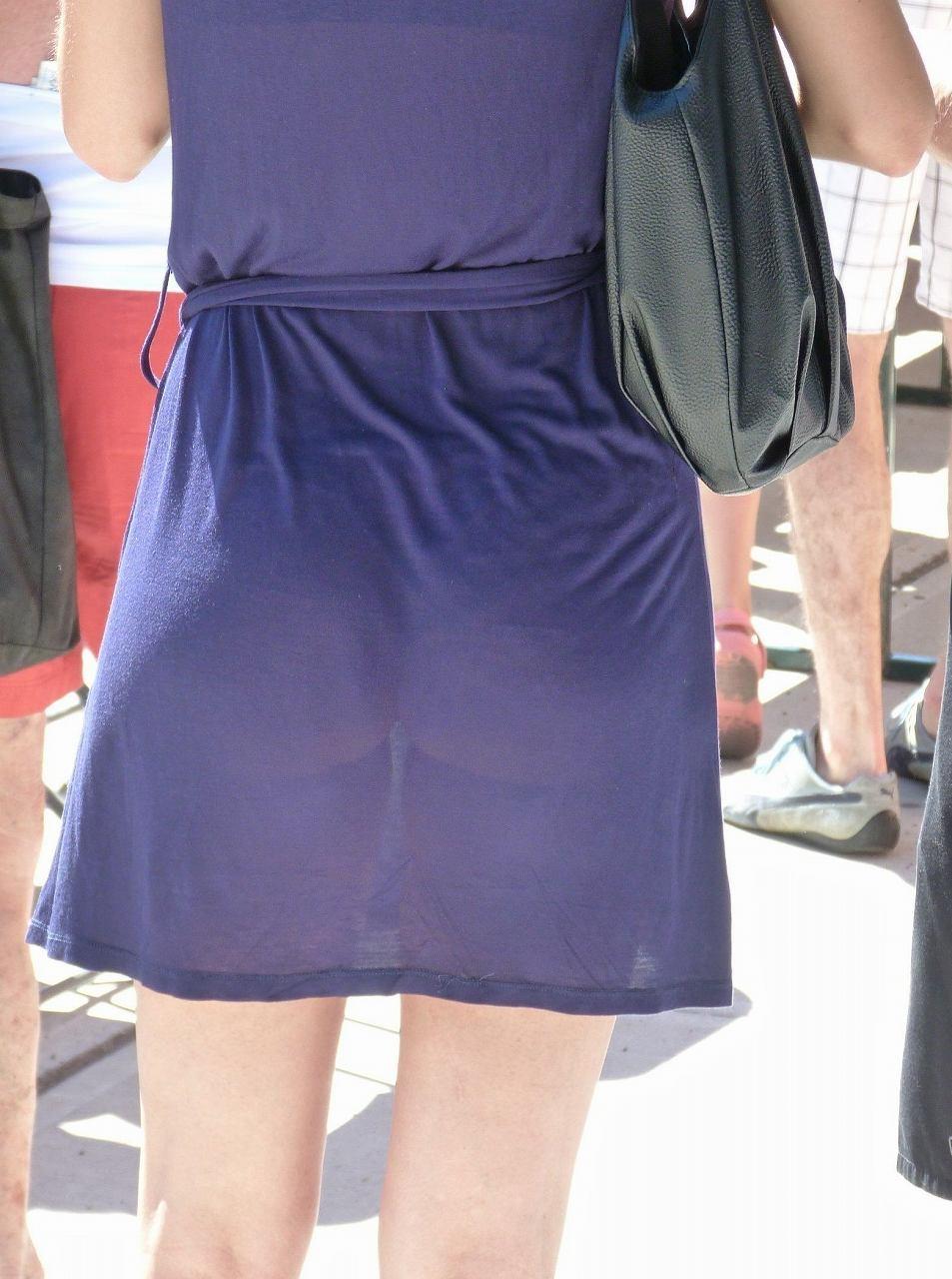 パンツ 透け過ぎ 丸分かり 透けパン エロ画像【6】
