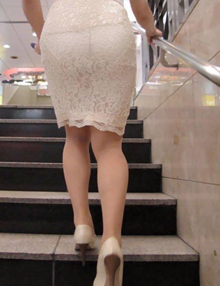 パンツ 透け過ぎ 丸分かり 透けパン エロ画像【12】