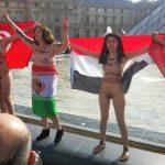 イスラム女性の全裸デモinパリの画像集