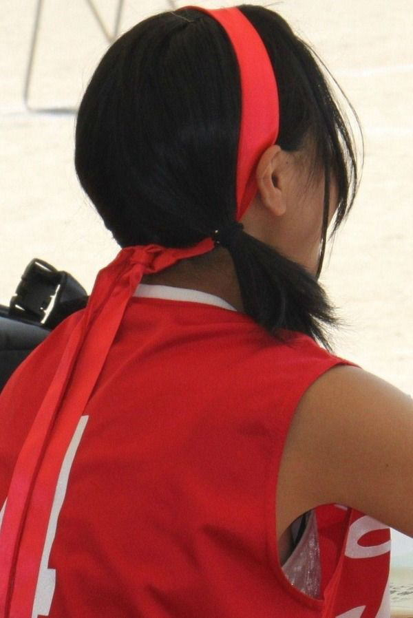 袖口 ピンク ブラジャー 桃色 胸チラ エロ画像【32】
