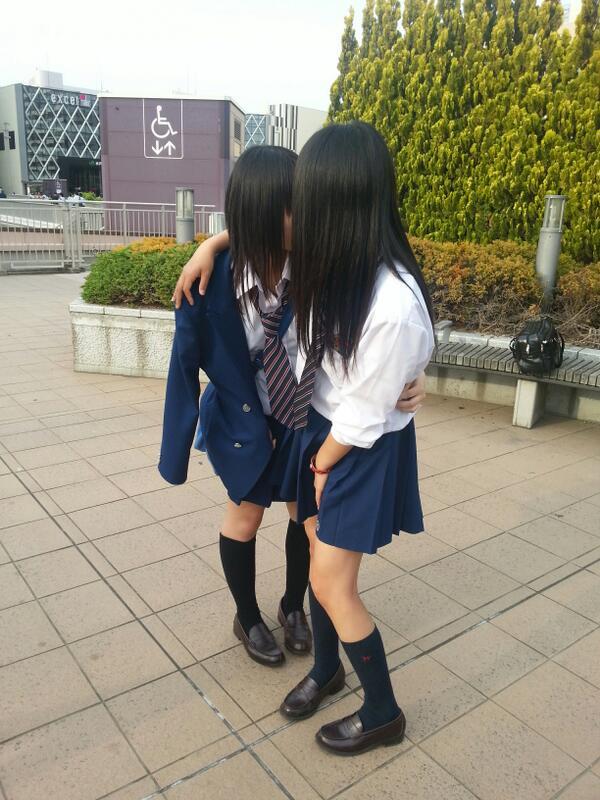 制服 JK レズ キス エロ画像【30】