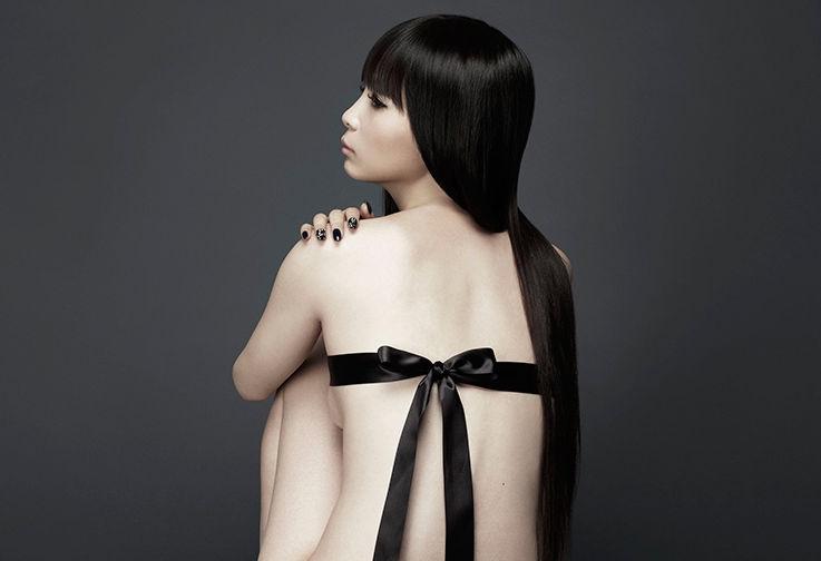 オタキャラ捨てて黒リボンのみ!中川翔子のセルフヌードエッチ画像にネット騒然www