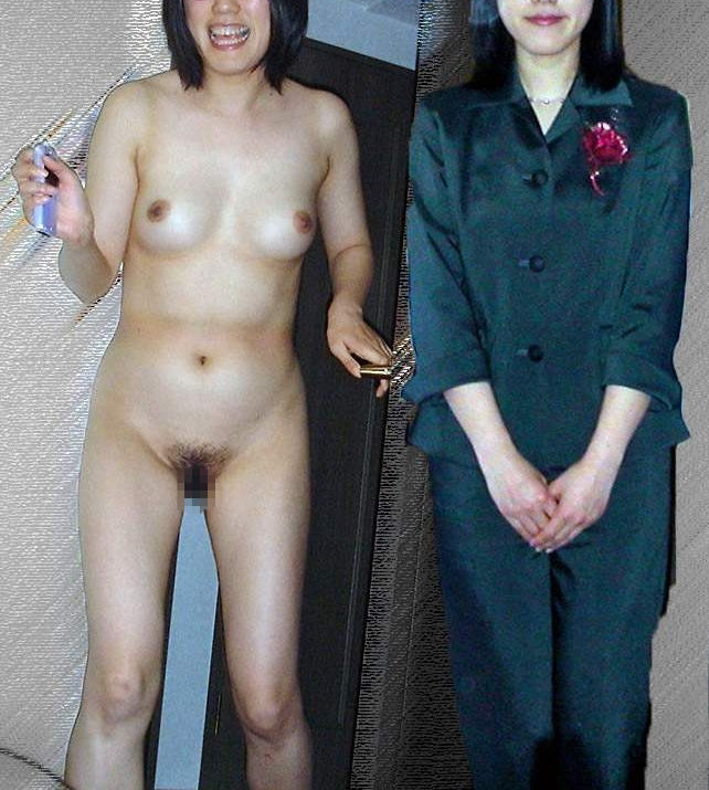 熟女 着衣 脱衣 おばさん ビフォー アフター エロ画像【25】