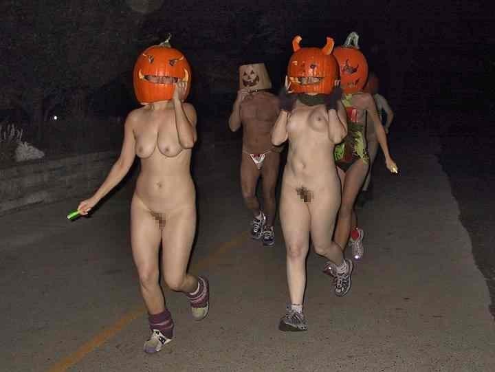 全裸 かぼちゃ頭 ハロウィン パンプキンラン エロ画像【5】