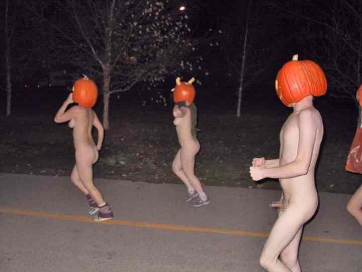 全裸 かぼちゃ頭 ハロウィン パンプキンラン エロ画像【9】