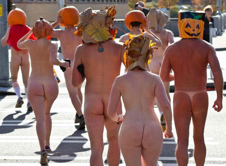 全裸 かぼちゃ頭 ハロウィン パンプキンラン エロ画像【10】