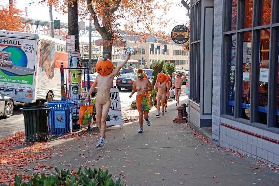 全裸 かぼちゃ頭 ハロウィン パンプキンラン エロ画像【16】