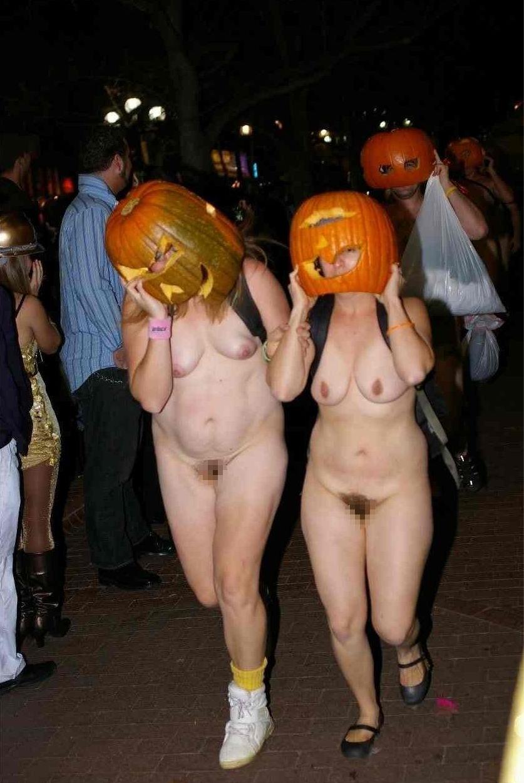 全裸 かぼちゃ頭 ハロウィン パンプキンラン エロ画像【18】
