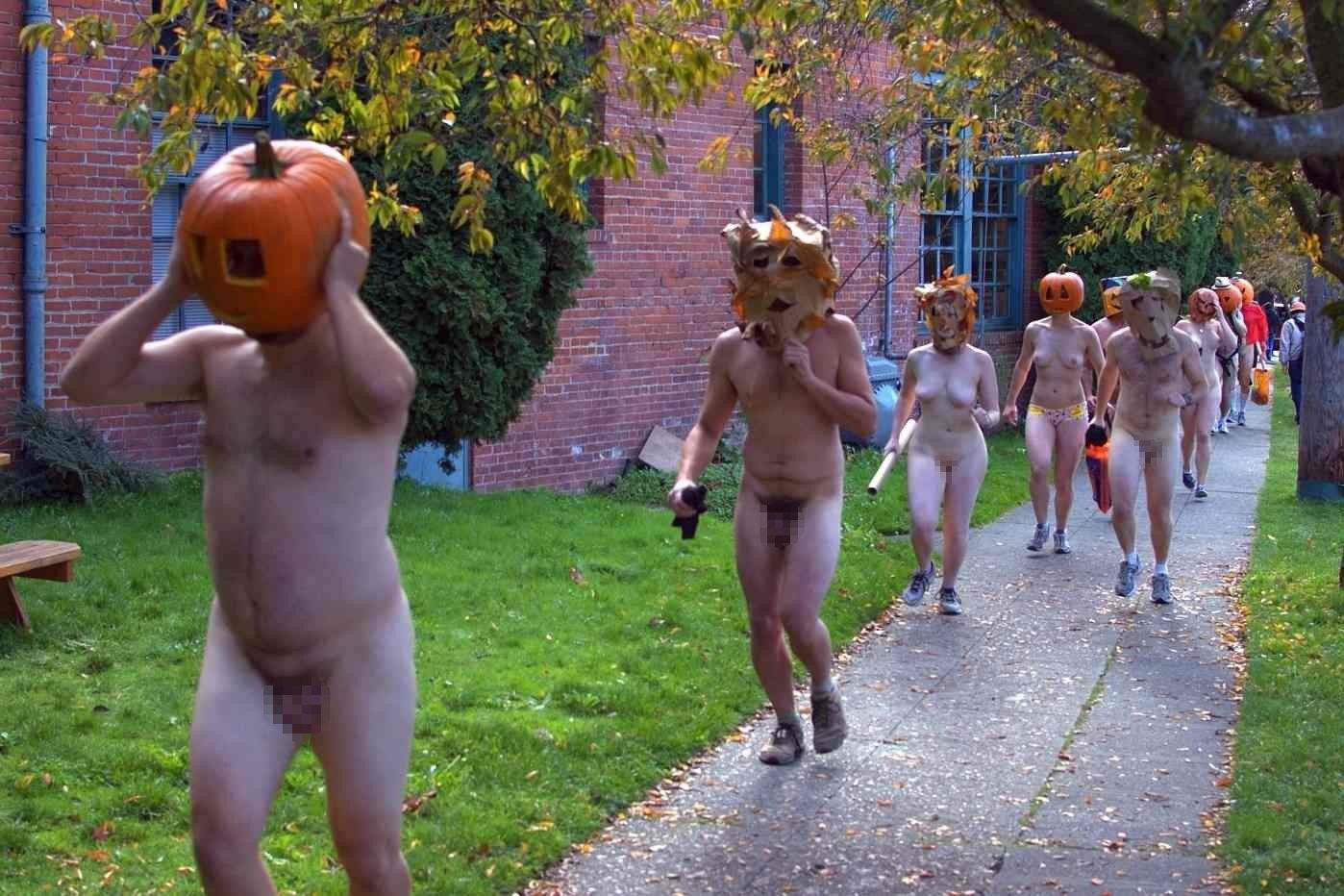 全裸 かぼちゃ頭 ハロウィン パンプキンラン エロ画像【21】