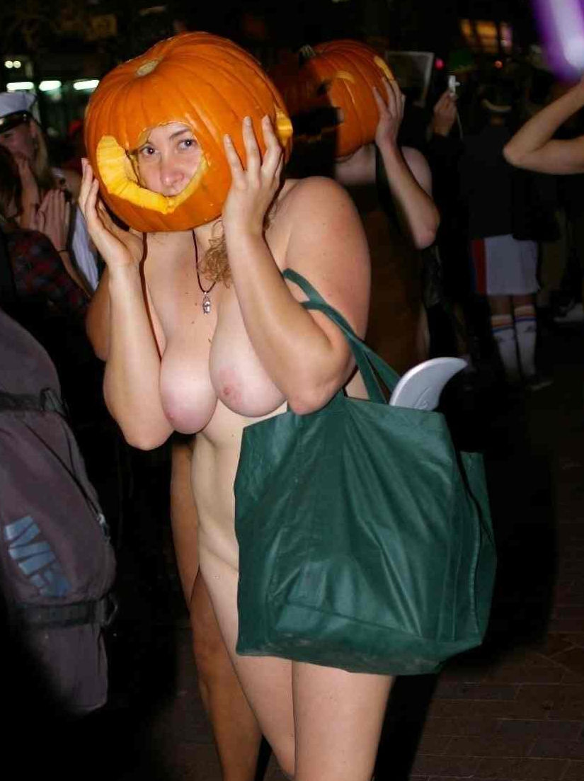 全裸 かぼちゃ頭 ハロウィン パンプキンラン エロ画像【24】