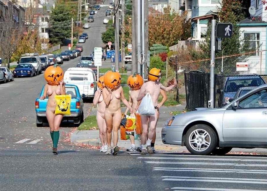 全裸 かぼちゃ頭 ハロウィン パンプキンラン エロ画像【25】