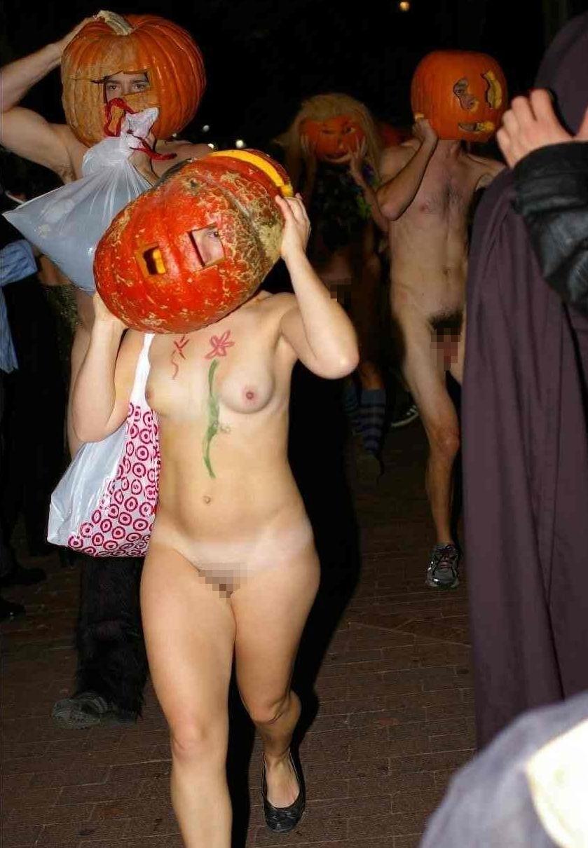 全裸 かぼちゃ頭 ハロウィン パンプキンラン エロ画像【26】