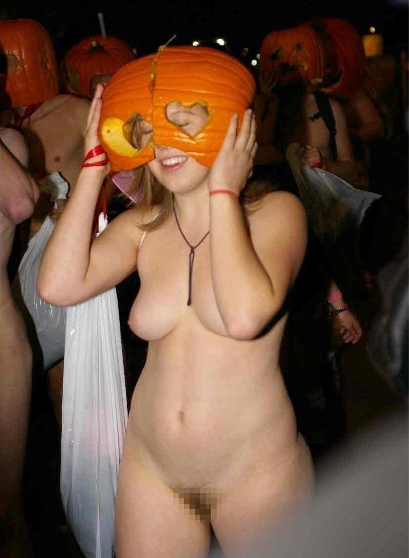 全裸 かぼちゃ頭 ハロウィン パンプキンラン エロ画像【27】