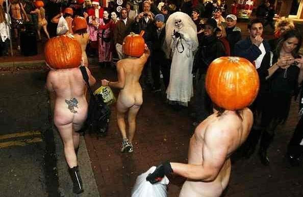 全裸 かぼちゃ頭 ハロウィン パンプキンラン エロ画像【28】