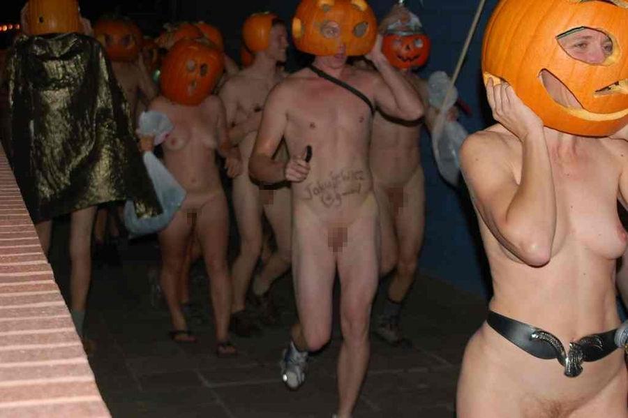 全裸 かぼちゃ頭 ハロウィン パンプキンラン エロ画像【29】
