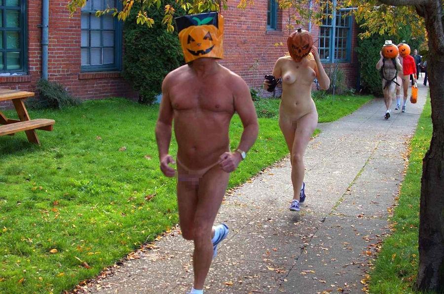 全裸 かぼちゃ頭 ハロウィン パンプキンラン エロ画像【31】
