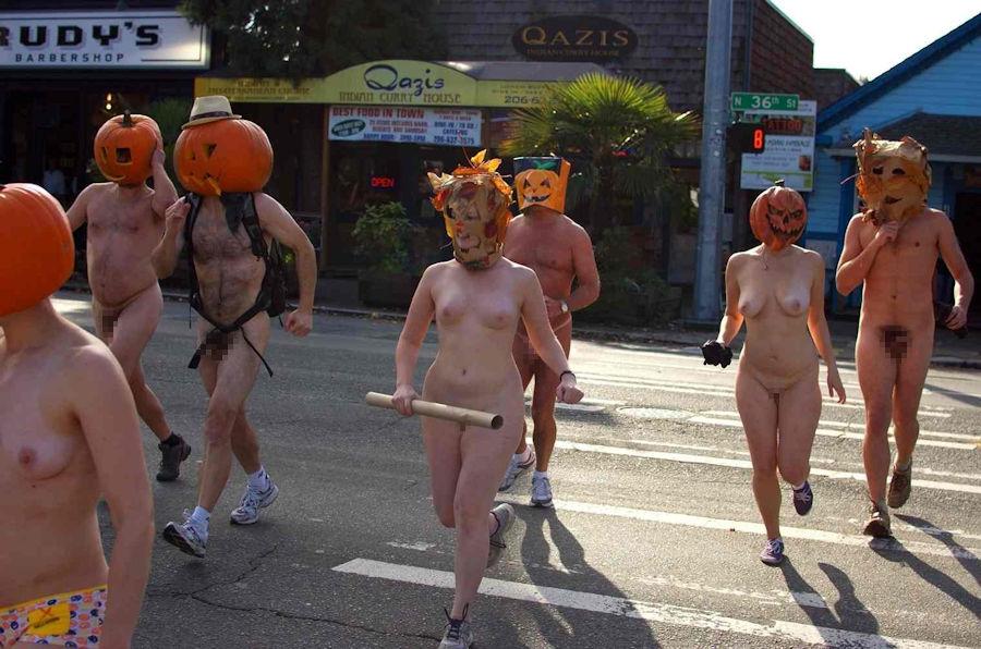 全裸 かぼちゃ頭 ハロウィン パンプキンラン エロ画像【34】