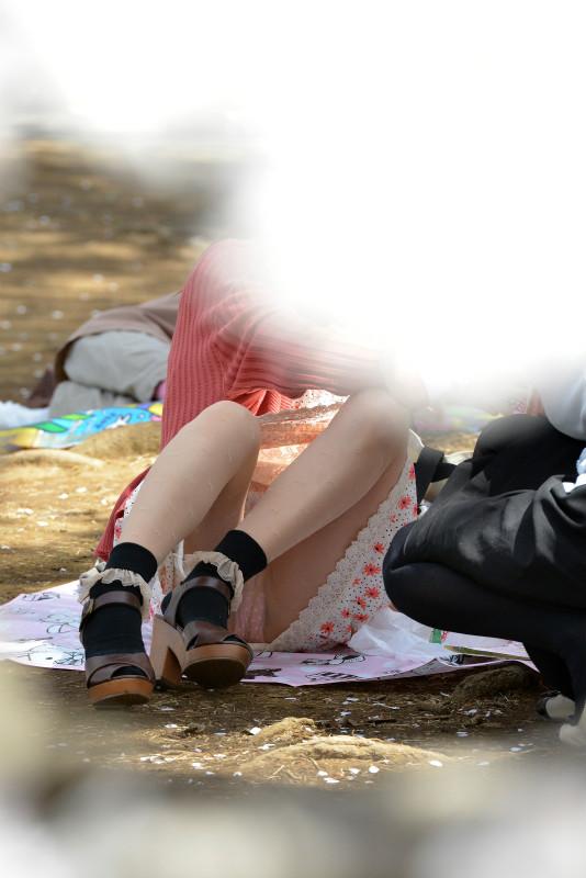 無防備 パンツ 座りパンチラ エロ画像【11】