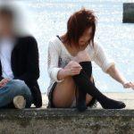 彼女のパンツ!街撮りカップルのパンチラ画像