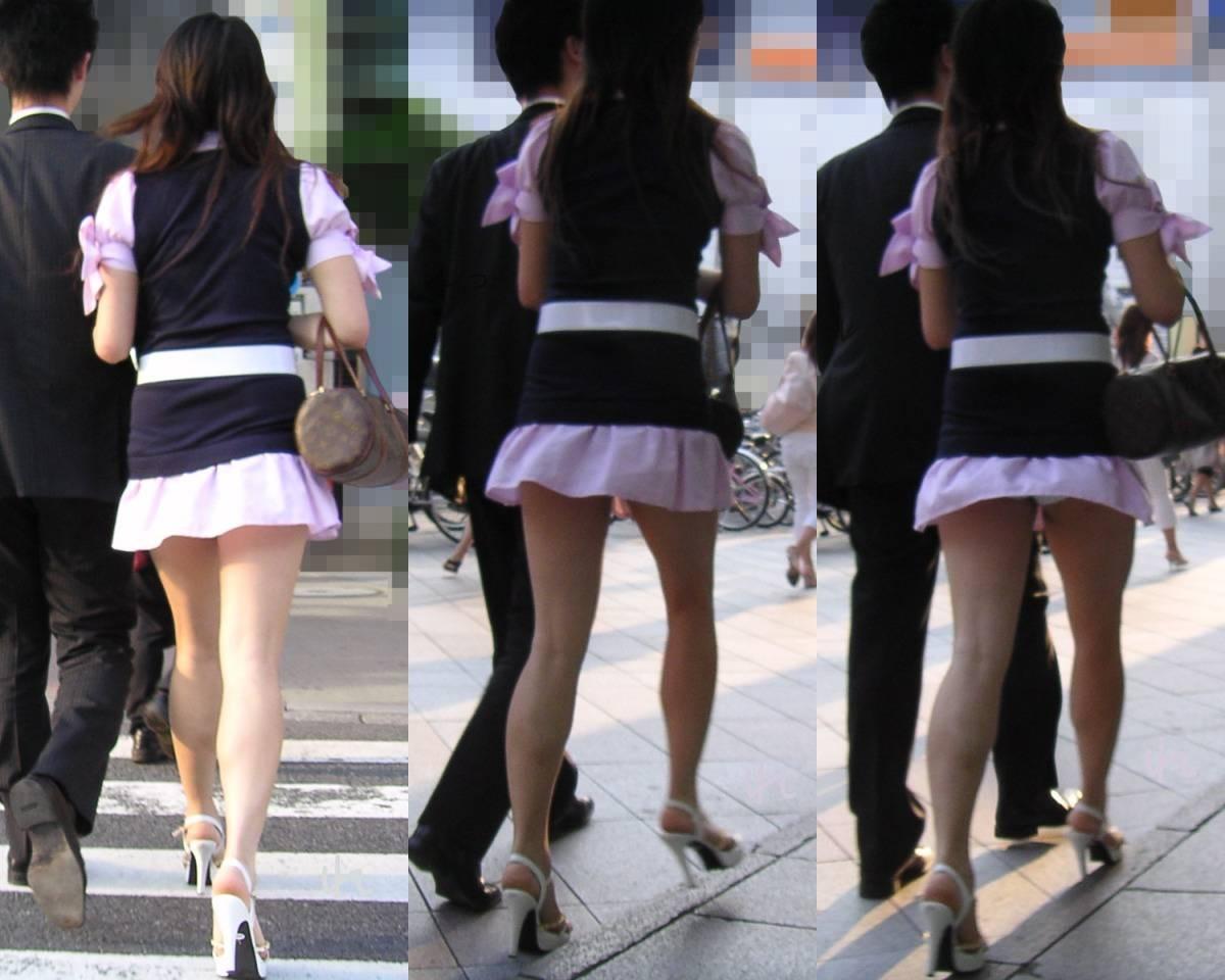 彼女 パンツ 街撮り カップル パンチラ エロ画像【4】