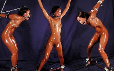 黒人女性限定の緊縛拘束SMエロ画像 ④