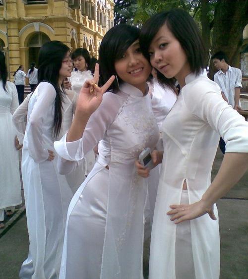 民族衣装 アオザイ ベトナム人 下着 透け エロ画像【6】