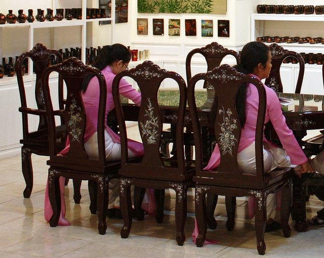 民族衣装 アオザイ ベトナム人 下着 透け エロ画像【7】