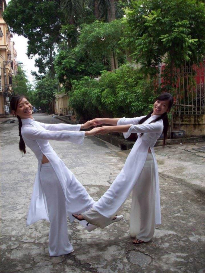 民族衣装 アオザイ ベトナム人 下着 透け エロ画像【14】