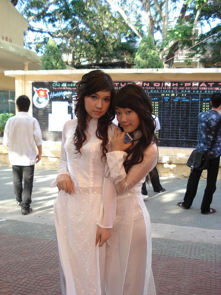 民族衣装 アオザイ ベトナム人 下着 透け エロ画像【23】