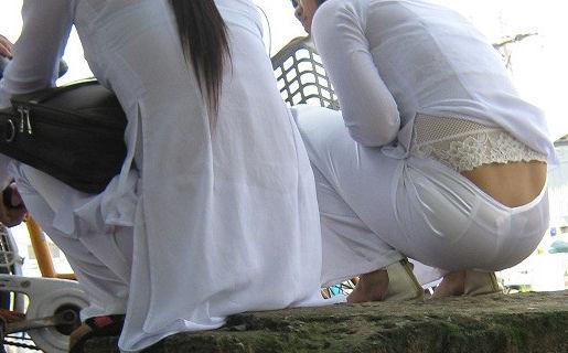 民族衣装 アオザイ ベトナム人 下着 透け エロ画像【34】