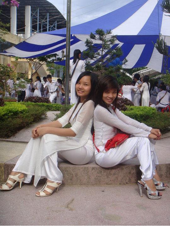 民族衣装 アオザイ ベトナム人 下着 透け エロ画像【41】