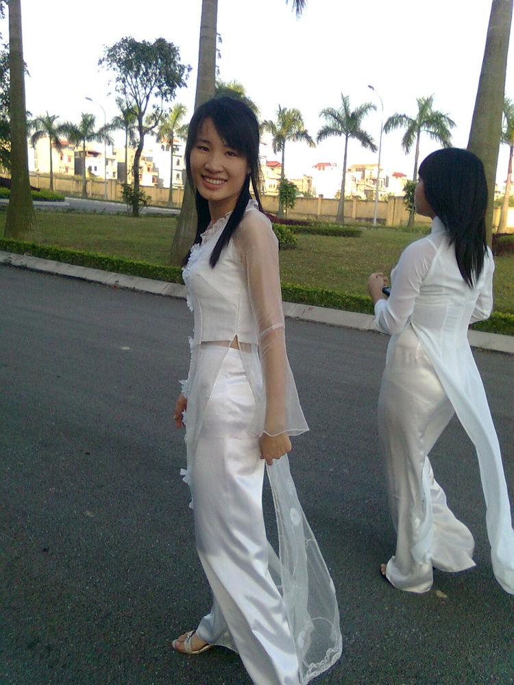 民族衣装 アオザイ ベトナム人 下着 透け エロ画像【43】
