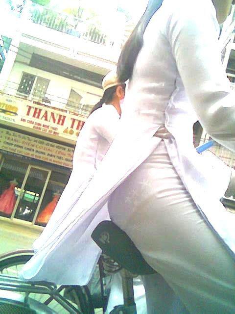 民族衣装 アオザイ ベトナム人 下着 透け エロ画像【44】