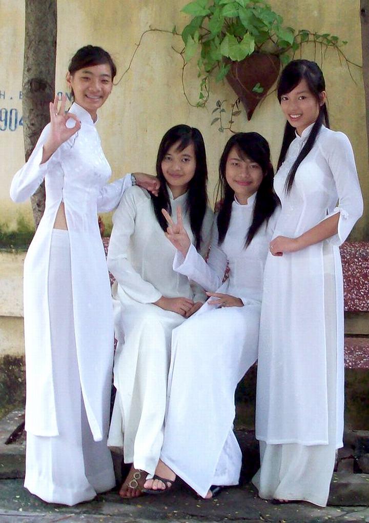 民族衣装 アオザイ ベトナム人 下着 透け エロ画像【45】