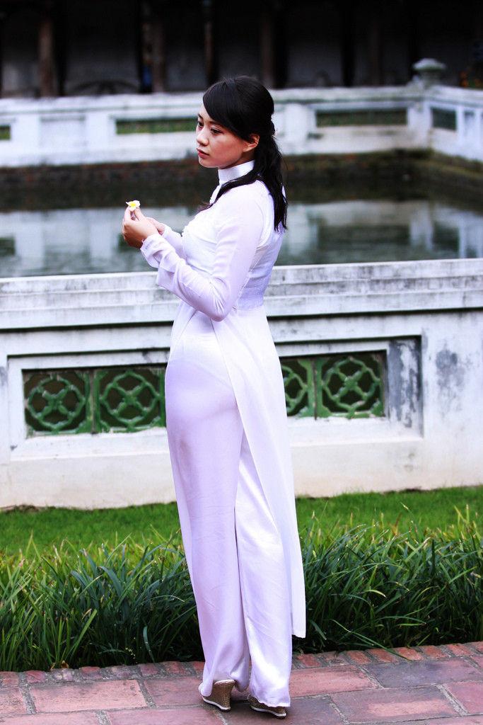 民族衣装 アオザイ ベトナム人 下着 透け エロ画像【49】