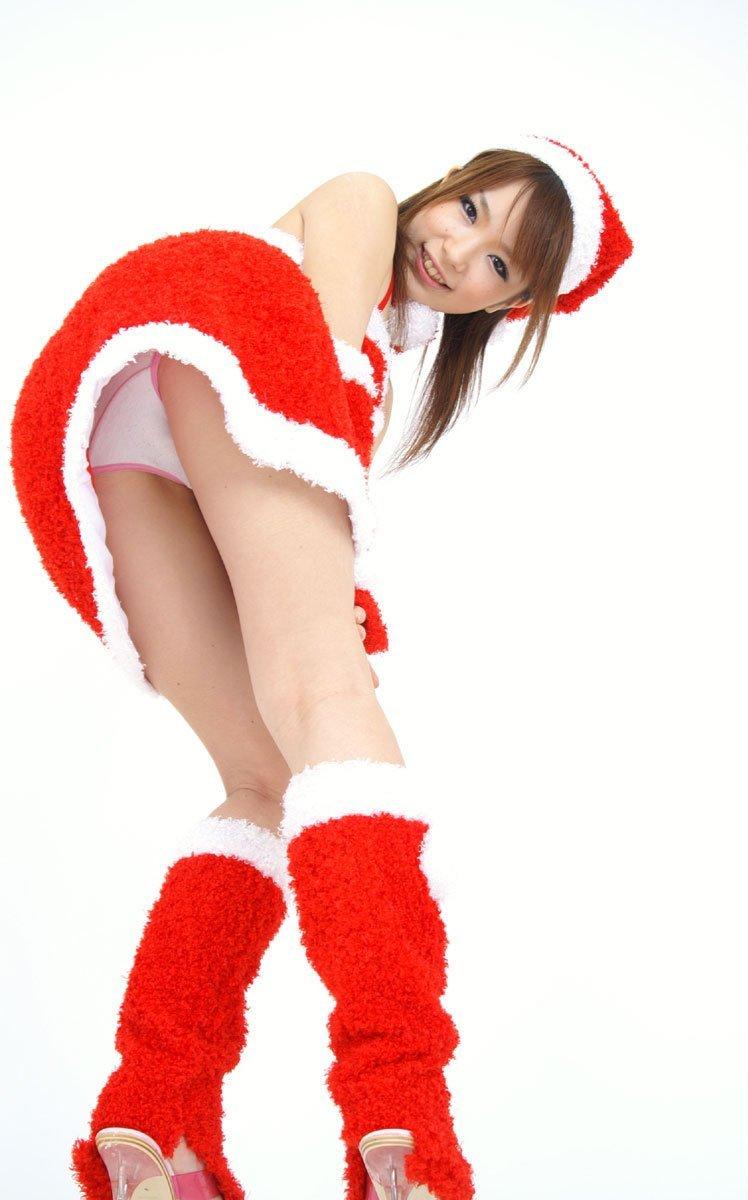 サンタ クリスマス 胸チラ パンチラ エロ画像【7】