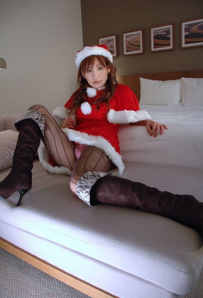 サンタ クリスマス 胸チラ パンチラ エロ画像【16】
