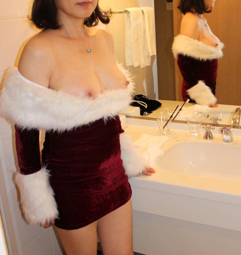 素人 クリスマス サンタ 彼女 熟女 エロ画像【33】
