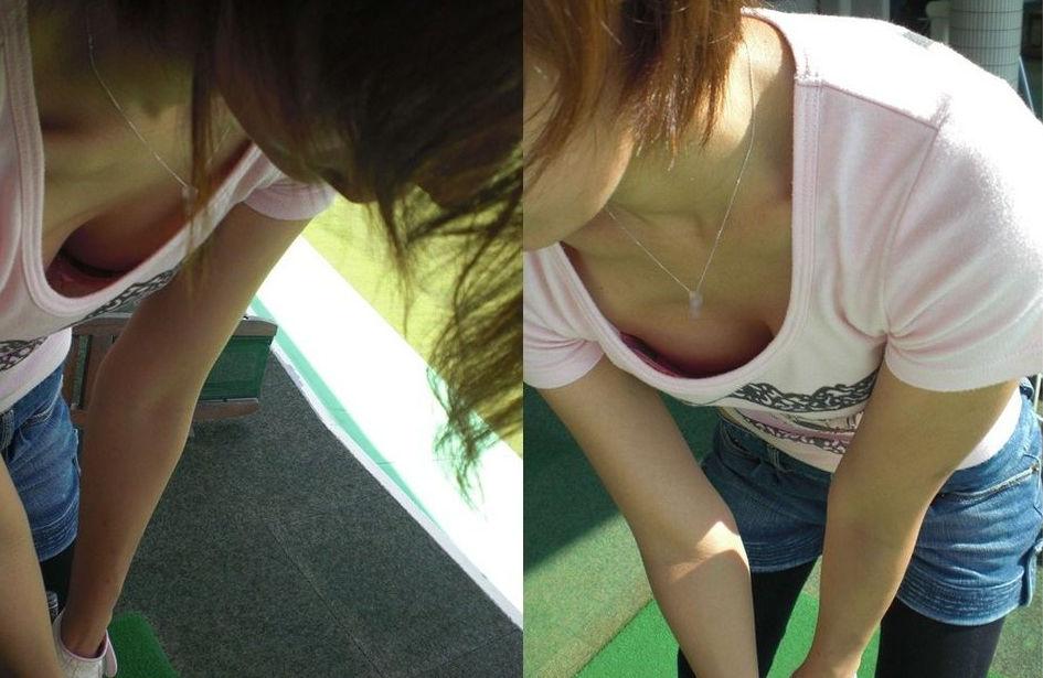 ゴルフ おっぱい スポーツ 胸チラ エロ画像【9】