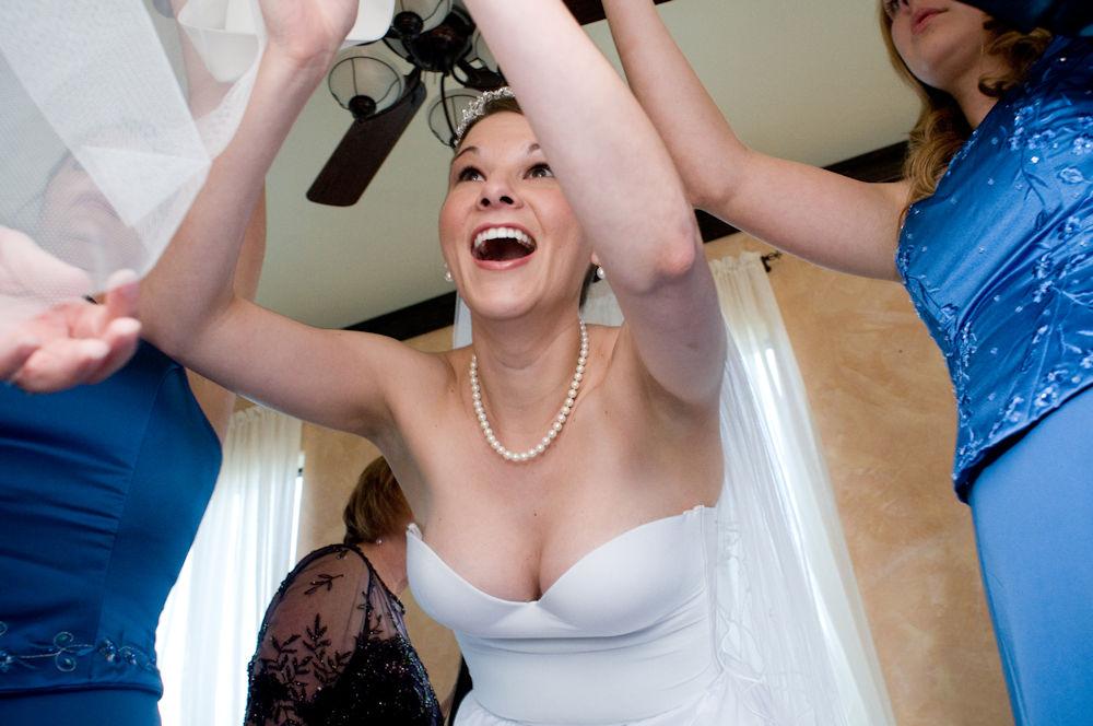 花嫁 新婦 友人 結婚式 胸チラ 乳首チラ エロ画像【18】