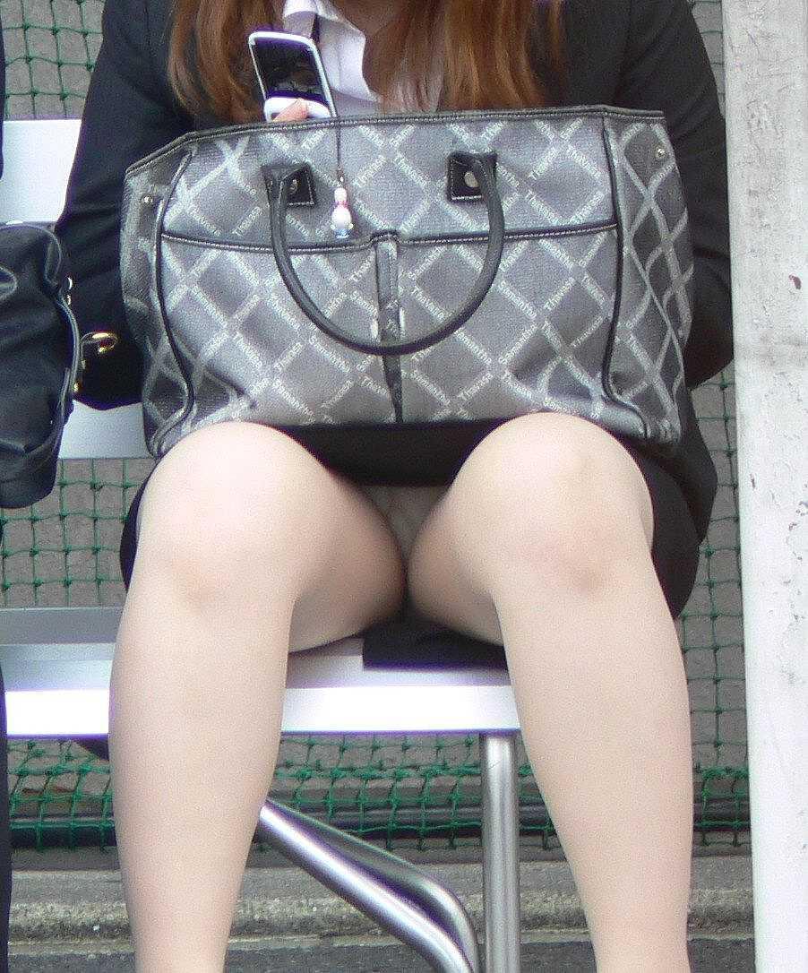 ベージュパンスト OL センターシーム マチ付き エロ画像【13】
