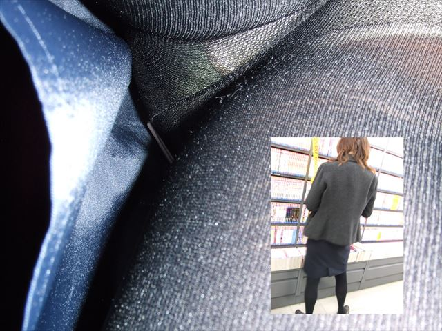 OL 逆さ撮り パンチラ エロ画像【6】