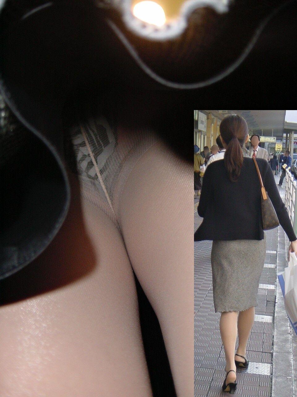 OL 逆さ撮り パンチラ エロ画像【68】