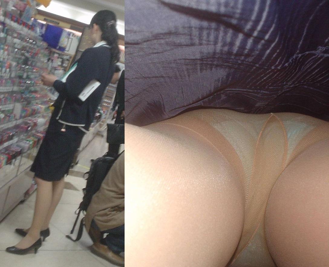 OL 逆さ撮り パンチラ エロ画像【85】