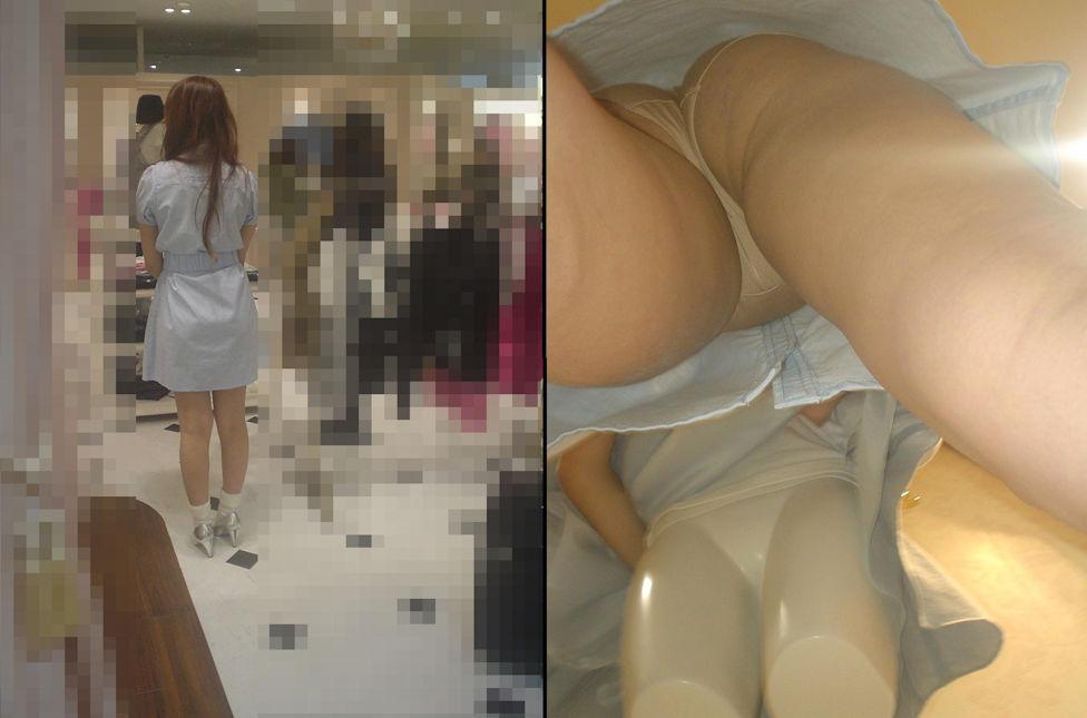 アパレル ショップ 店員 逆さ撮り パンチラ エロ画像【6】